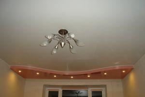 матовый натяжной потолок для зала