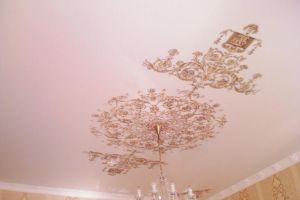 сатиновые натяжные потолки с фотопечатью
